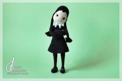 http://lalkacrochetka.blogspot.com/2019/03/wednesday-addams-doll-lalka-wednesday.html